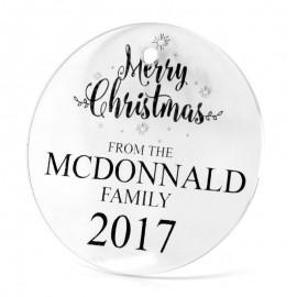 Acrylic Christmas Decoration - Round Shape