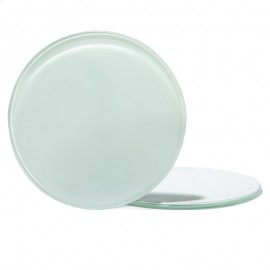Round glass coaster pack of 4