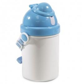 Childs Blue Plastic Drinks Bottle