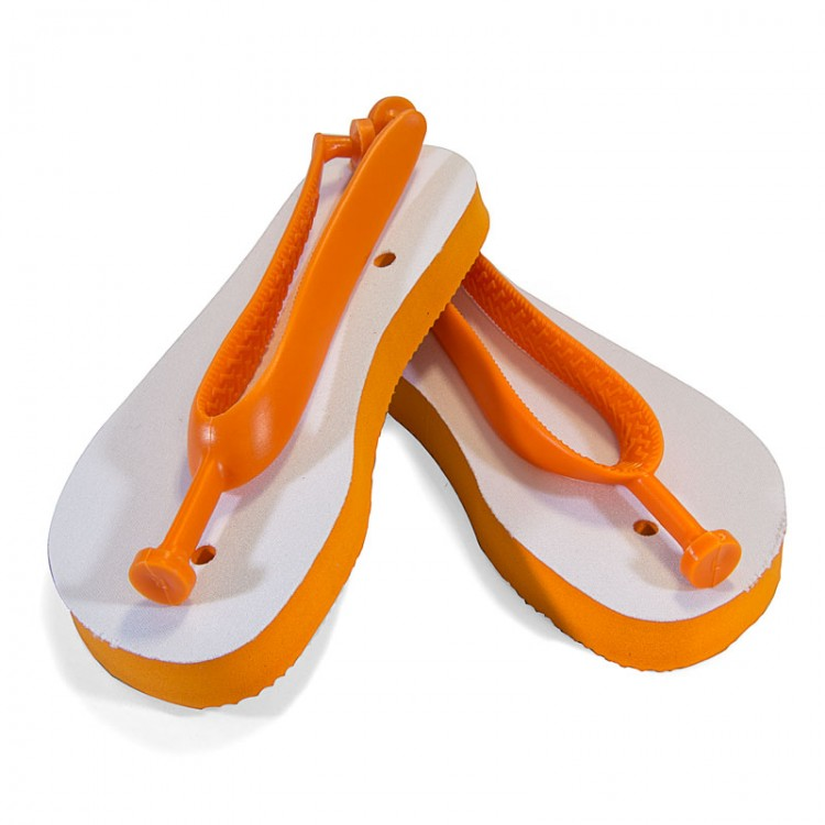 ffabf4c72 Childs Sublimation Flip Flops - Orange