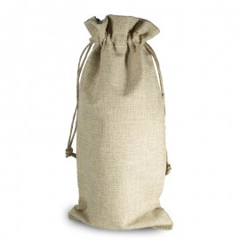 Wine Burlap Drawstring Bag