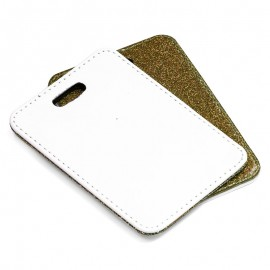 PU Luggage Tag - gold