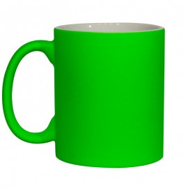 11oz Fluorescent Green Matt Mug