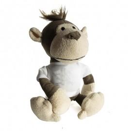 Monkey Plush Toy With Sublimation T-Shirt