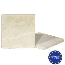 MATT Botticino Marble Coasters